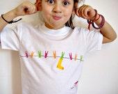 Childrens t-shirt, Hand-painted Kids Tee Shirt, Clothing, Funny Summer Fun Wear