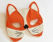 Fox Cub Children Mask Kids Halloween Mask Animal Carnival Dress up Costume Accessory, Pretend Play Toy for Girls Boys and Toddlers