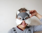 Wild Cat or Puma Kids Mask, Children Carnival Mask, Halloween Dress up Costume Accessory, Gift for Kids, Pretend Play, Boys, Girls, Toddler