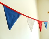 Patriotic Nautical Bunting Banner, Garland, Olympic Games, July 4th Independence Day Party Decoration, Indoor, Outdoor