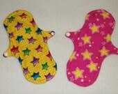 Set of Two Handmade Cloth Menstrual Pads