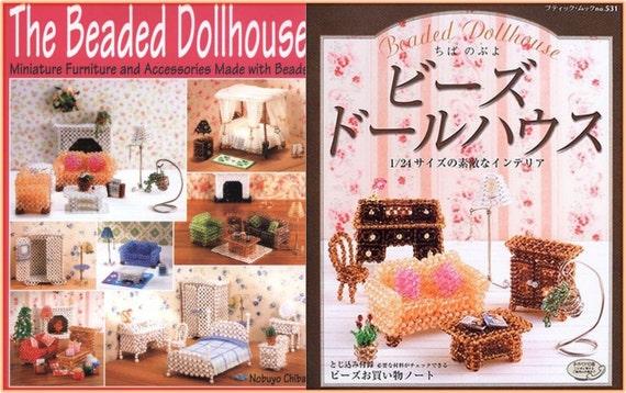 Japanese Beading Craft Pattern Book 3D Bead Dollhouse