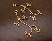 SALE - One Pair Bali Vermeil Curly Q Chandelier Findings (2 pieces)