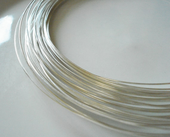 SALE - 24 gauge Sterling Silver Wire - Round, Dead Soft - 10 Feet
