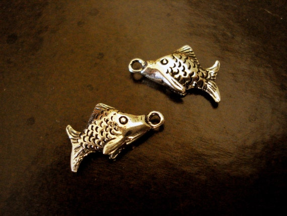 SALE - (2) Bali Sterling Silver Fish Charms