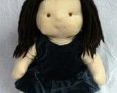 18 inch Doll Blue Velvet Dress