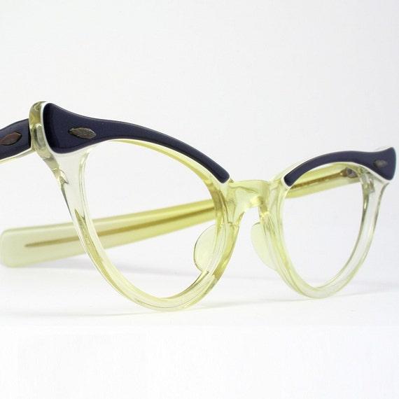 Browline eyeglasses | Etsy