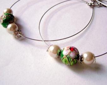 Shine on me - Maximalist big simple round handmade earrings