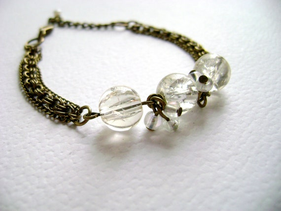 My love - Icy romantic vintage inspired beautiful bracelet