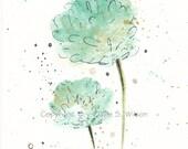 Retreat - Original watercolor 4x6 - SALE