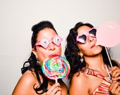 Wedding Photo Props. Party Props. Photo booth Props. Photo Props. Props on a Stick - Bubblegum on a Stick