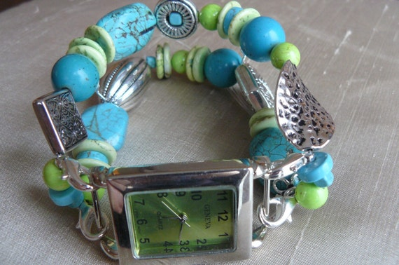Laguna Interchangeable Beaded Watch Band