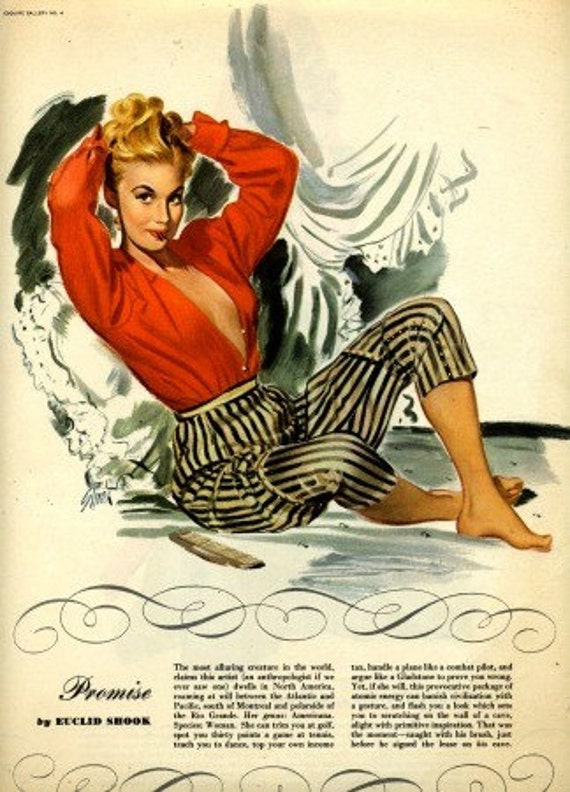 vintage pin-up girls 1946 esquire double sided