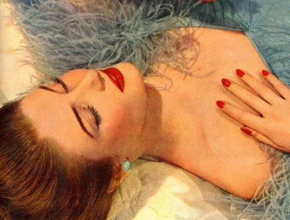 vintage 1953 pin-up girls advertisement soap palmolive