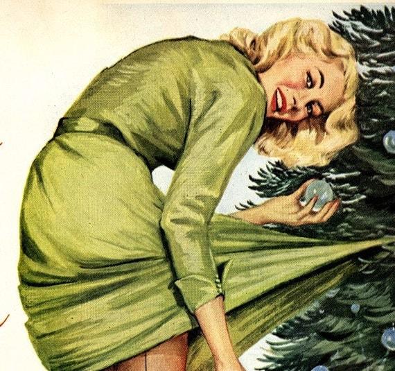 vintage pinup santa claus zippo 1951 advertisement