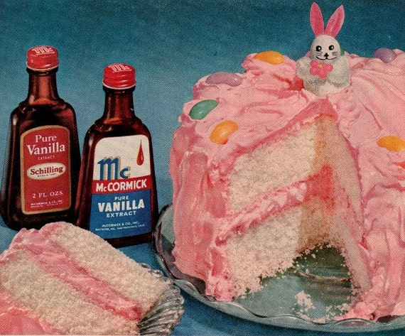 vintage pink frosting vanilla cake 1951 advertisement mc cormick