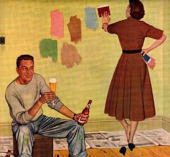 vintage home remodeling 1950 advertisement schlitz beer