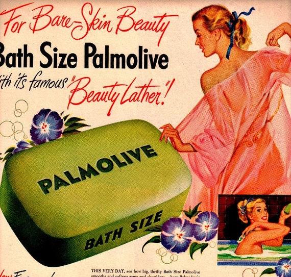 vintage pinup advertisement palmolive 1946 soap