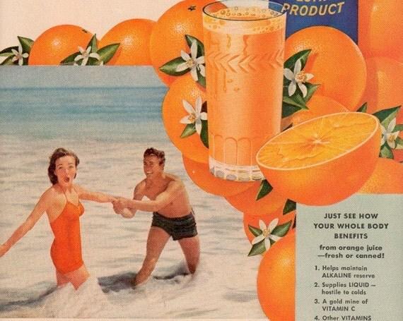 vintage beach florida 1948 advertisement orange juice