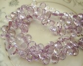 1/2 Strand Top Quality Pink Amethyst  Faceted Pear Briolettes