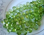 Gorgeous Top Quality Finest Peridot Faceted Pear Briolettes 9-10mm Brioletettes
