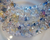 LUXE Collection  Sparkly  Baby Sapphire Faceted Briolettes 1 Inch 18 Beads