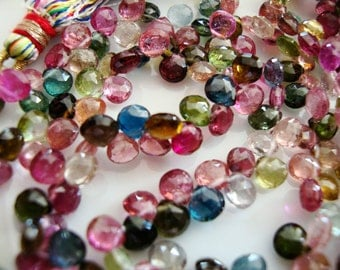 LUXE Collection  Exquisite Top Grade AAA Tourmaline Heart Briolettes