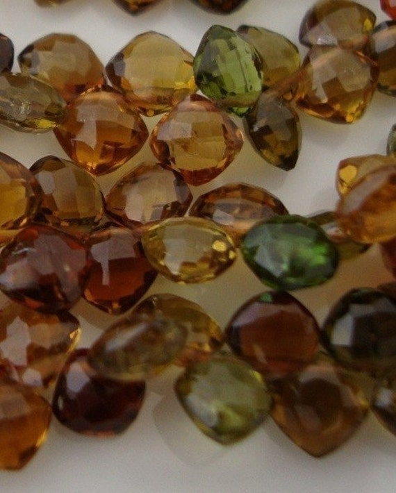 Gorgeous Gorgeous AAA Petrol Tourmaline Finely Faceted Baby Cushions 2 Inch Strand
