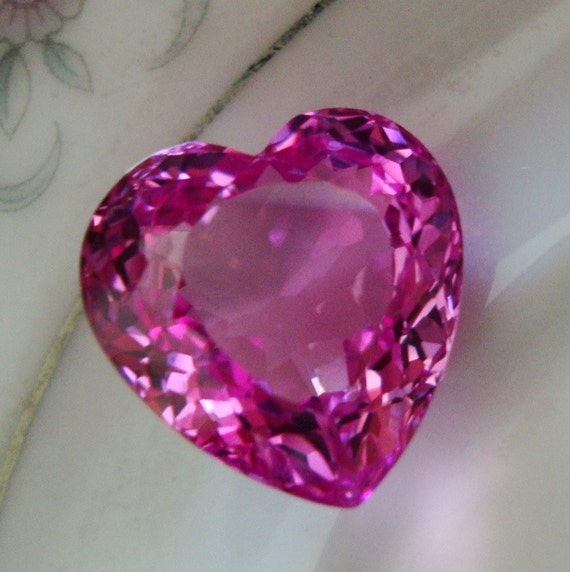 Hot Rosy Pink Topaz Fancy Heart Shape Concave Cut Focal Briolette  NOT Drilled