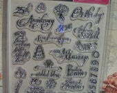 Creative Imaginations Clear Stamps - WEDDING - Buy More than One and Get a DISCOUNT