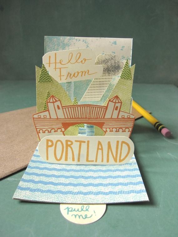 Portland Pop-up Post Card