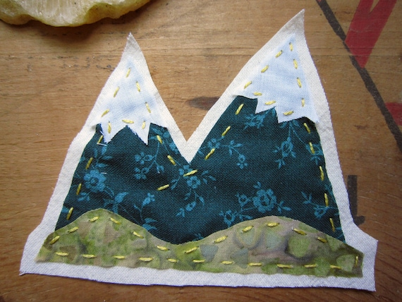 Olympic Mountains Fabric Patch