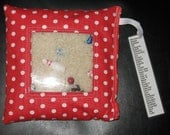 Red with White Polka Dots I Spy Bag RESERVED