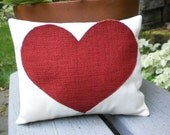 Decorative Pillow - Red Heart Pillow Pocket For Your Love Notes