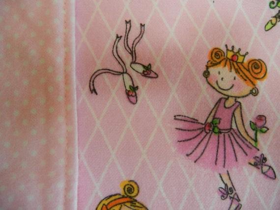 Baby Girl Blanket - Toddler Girl Blanket - Pink Crib Blanket - Reverses to Pink and White Dots
