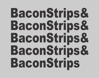 NEW BACON STRIPS tshirt epic tee Food meal Funny time T Shirt gray