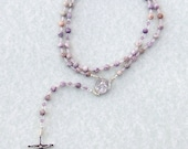 Purple Crazy Agate Rosary