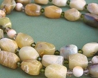 Wood Opal / Sterling Silver Rosary