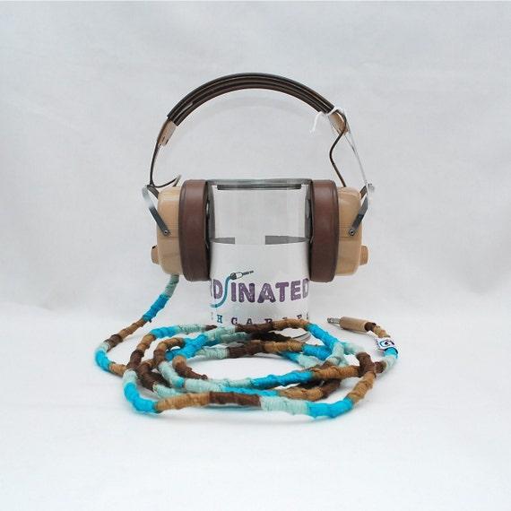 Vintage Headphones in Beach Front