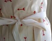 organic cotton apron - arrow print in red