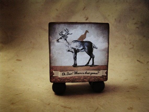 Diorama light box -Oh Deer Where is the goose-