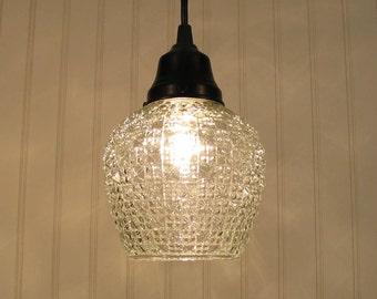 Lubec II. Vintage Art Deco PENDANT Light Created NEW