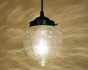 Clear Glass PENDANT Light - Ceiling Lighting Chandelier Fixture Flush Mount  Kitchen Bathroom Lamp Pendants by LampGoods