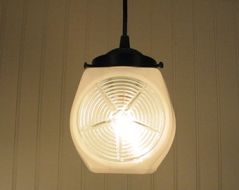 Ripley. Retro Milk Glass PENDANT Light