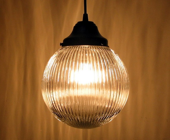 Rockport. Vintage Globe made PENDANT LAMP