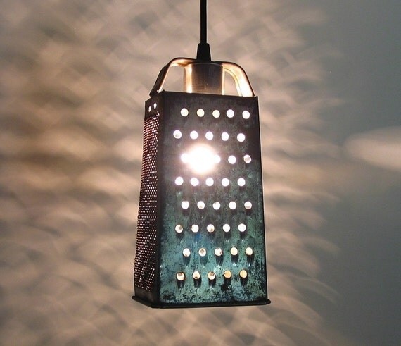 Kittery.Vintage GRATER Turned PENDANT Created NEW