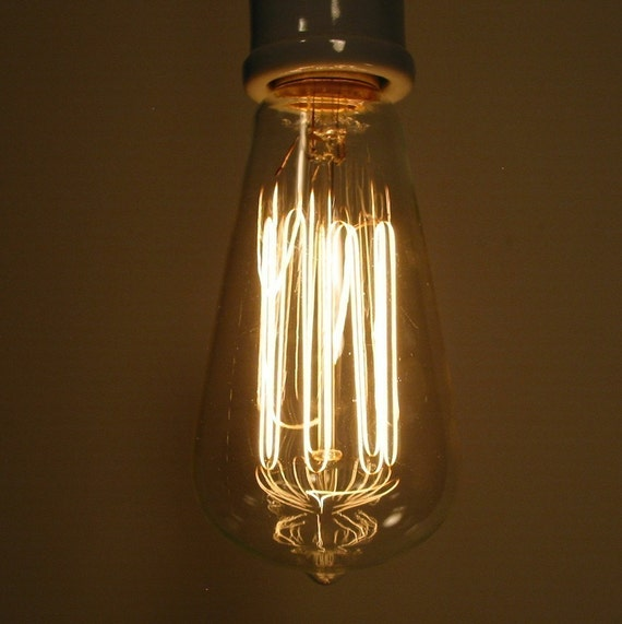 Antique Inspired EDISON Filament Light Bulb by LampGoods on Etsy