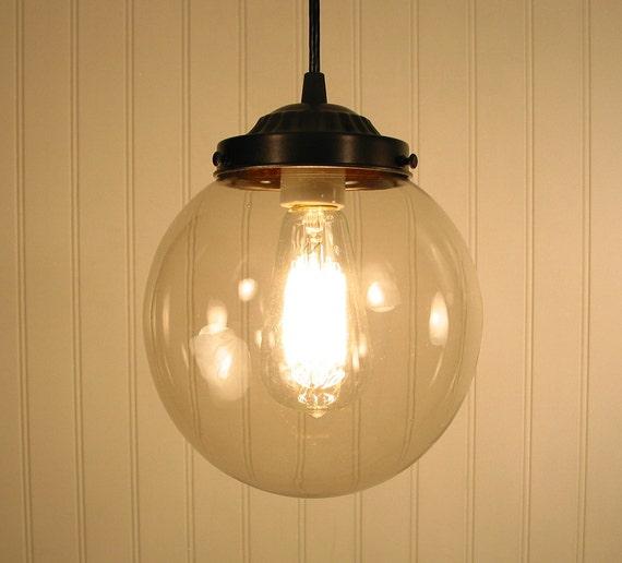Biddeford I. Smoked Globe PENDANT Light