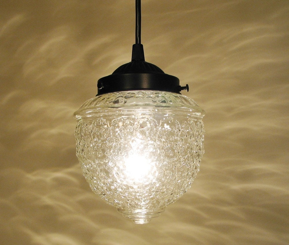 Island Falls II. Clear Glass PENDANT Light Ceiling Lighting