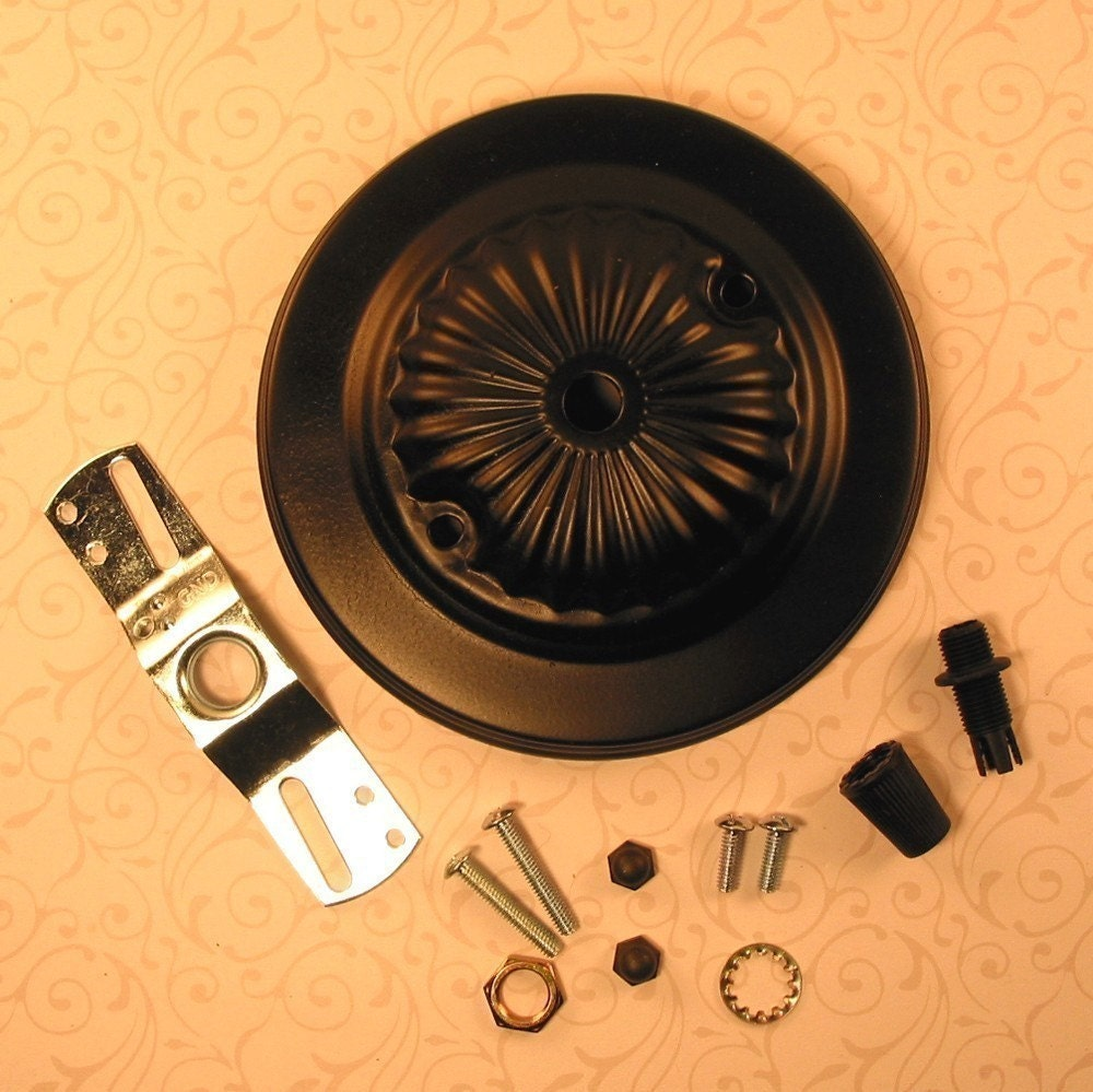 Rosette Design Ceiling Canopy Fixture Mounting Hardware Kit